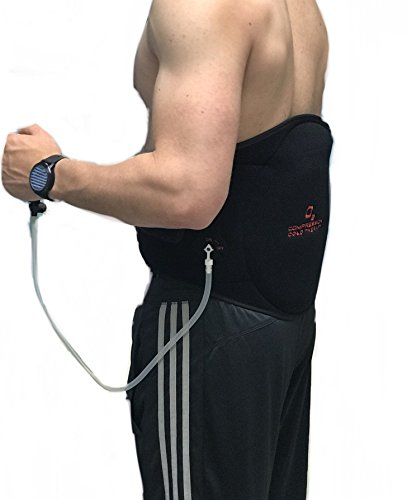 - O2 Cold and Compression Back Wrap with lined ice pack and air compression