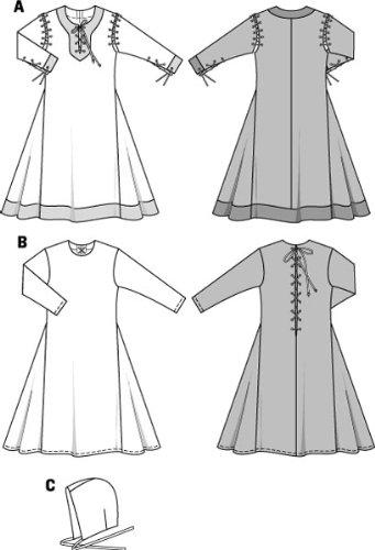 BURDA 9473 GIRL'S HISTORICAL LONG DRESS (SIZE 3-13jun,) SEWING PATTERN
