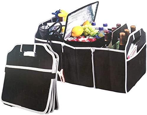 minivan Sac de rangement pliable 2 en 1 robuste et pliable pour coffre de voiture SUV camion et sac isotherme r/églable jusqu/à 18 kg