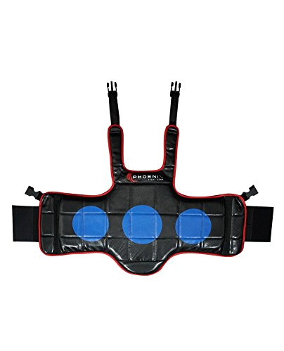 Kids Reversible Chest Protector, Child & Youth Chest Guard for MMA, Taekwondo, Mauy Thai, Boxing, Kickboxing, Sparring & Training Gear (Black, Medium) ()