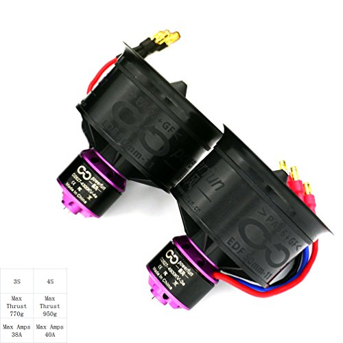 Powerfun EDF ducted fan 50mm 11 blades with 4900kv/3s brushless motor for rc model airplane jet