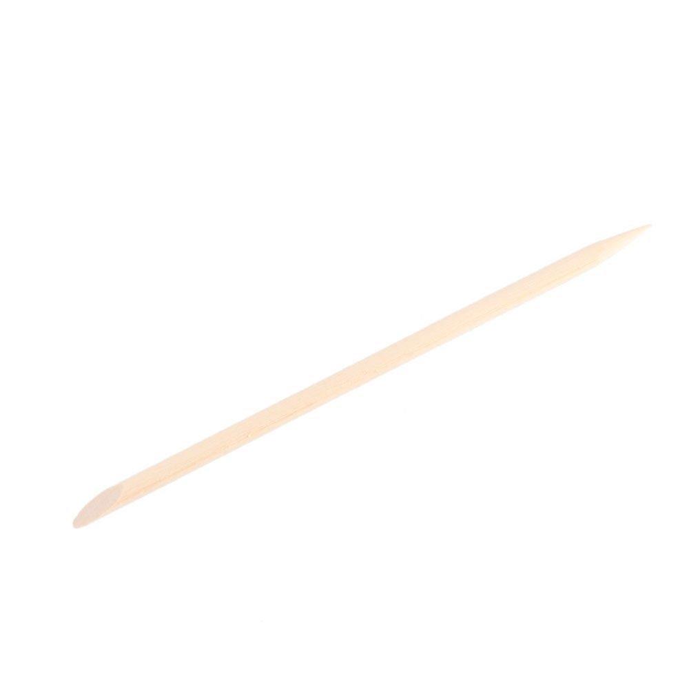 100pcs Nail Art Design Orange Wood Stick Cuticle Pusher Remover Manicure Care SODIAL(R)