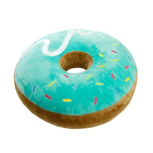 pillow chair. amazon.com: donut cushion pillow bed chair cushions ~chocolate: toys \u0026 games