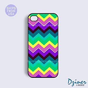 iPod Touch 4 Case - Multi Layer Color Chevron by lolosakes