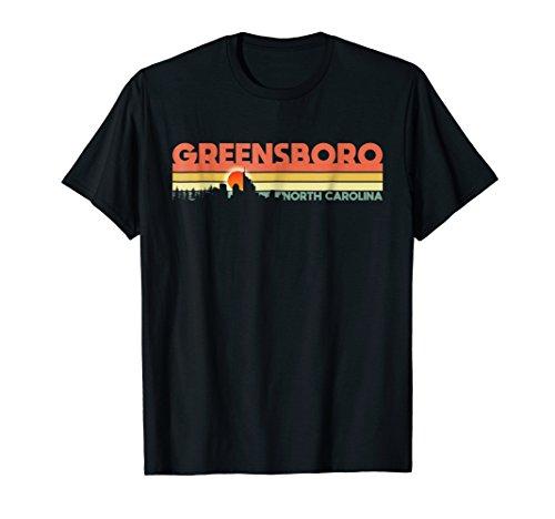 Retro Vintage 1980s Greensboro NC Sunset T-Shirt (Christmas Greensboro)