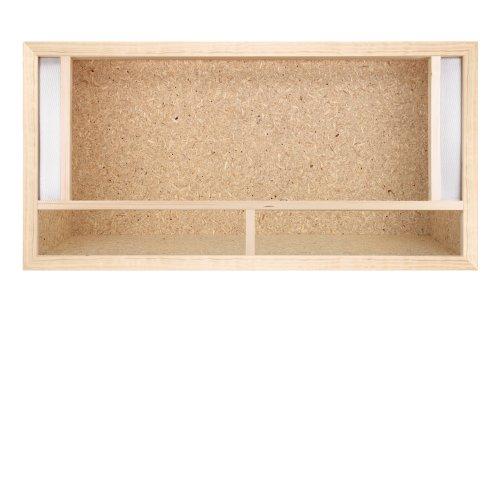 Holz Terrarium 80 x 40 x 40 cm mit Frontbelüftung Holzterrarium aus OSB Platte