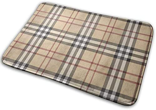 Door Mat Bathroom Rug Bedroom Carpet Bath Mats Rug Non-Slip Plaid cloth pattern