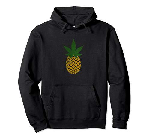 Pineapple Marijuana Leaf Weed Hoodie - Funny Tropical Weed