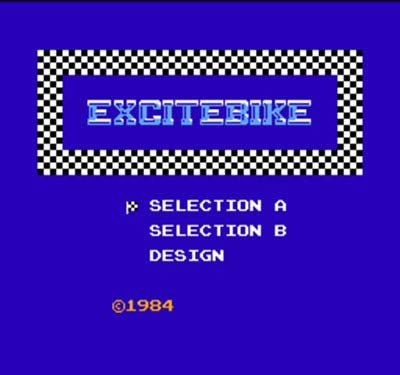 Excitebike Region Free 8 Bit Game Card For 72 Pin Video Game Player