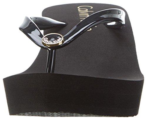 Calvin Klein underwear Wedge Ff Sandal, los Fracasos de Tirón para Mujer Negro (Black 001)