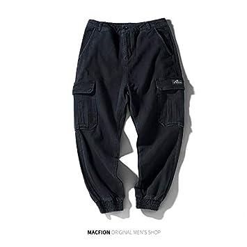 WSDMY Sweatshirt Shirt Pantalon en Tissu Pantalon Multi-Poches Salopettes Hommes de Marque de mar/ée pour Hommes /à Neuf Points Pantalons /à Faisceau Jeunes /étudiants en Vrac