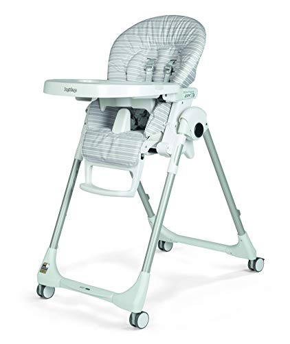 Peg Perego Prima Pappa Zero 3 High Chair, Linear Grey