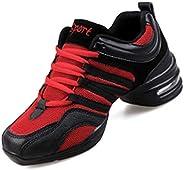 QdLOVES Ladies Dance Shoes Soft Outsole Ladies Breath Jazz Hip-hop Shoes Sports Characteristic Dance Sneakers