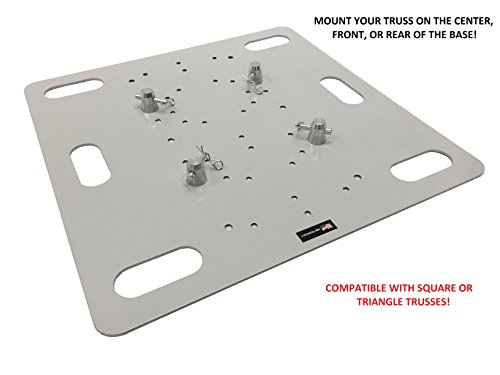 26''X26'' Base Plate For Square Aluminum Trussing /Triangle Fits F34 Global Truss by Cedarslink