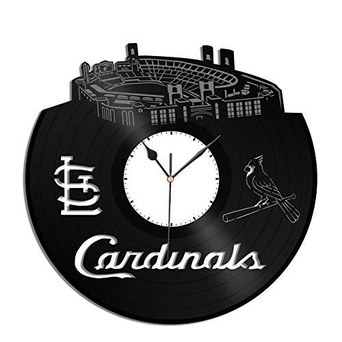 - VinylShopUS - Cardinals Baseball Team Vinyl Wall Clock Sports Clock Unique Wall | Unique Gift for Sports Baseball Lovers | Home Room Decoration