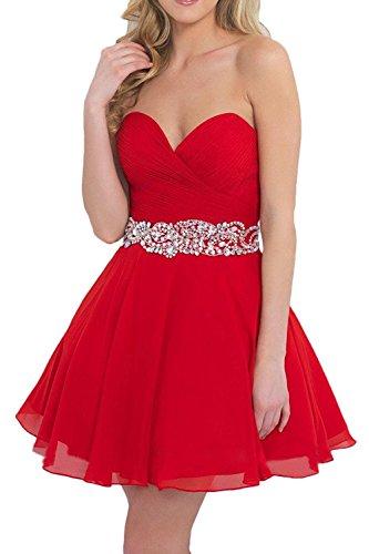 Vestido trapecio para Rojo mujer Topkleider q5gTW7dq
