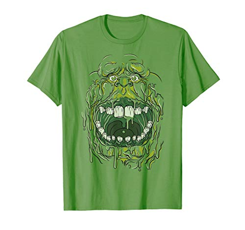 Ghostbusters Slimer Face Halloween Costume Graphic T-Shirt]()