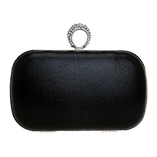 Sac Mariage Femme Soirée Black Bourse Bal Sac Main Fête à Chaîne Maquillage Bandouliere Pochette pour Clutch zrEqZwOBz