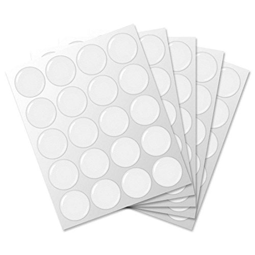 IGOGO 100 PCS Clear Epoxy Stickers Craft Bottle Caps Stickers for Hair Bows Pendants Scrapbooks 1 -