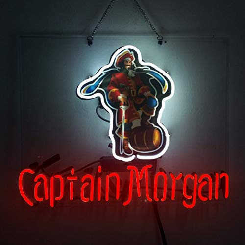 Captain Morgan Beer Bar Pub Store Room Wall Windows Display Neon Signs 19x15 Captain Morgan Neon Signs