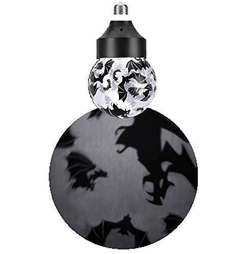 Bats Rotating Shadow Light Bulb