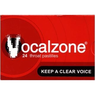 12 x Vocalzone Throat Pastilles 24 Throat Pastilles (Best Lozenges For Sore Throat Uk)