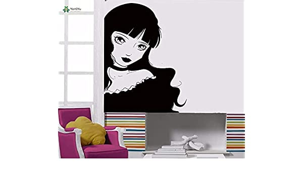 Apliques Vinilo Tatuajes de pared Lolita Girl Gothic Cartoon Teens ...
