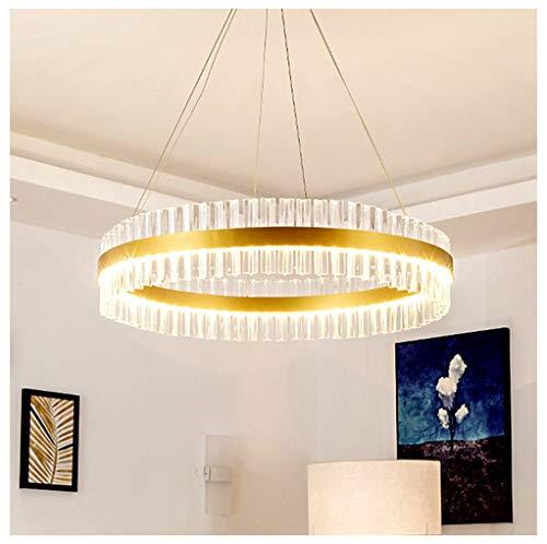Pendant Lights Pendant Lamp Crystal Light Post Modern Living Room Hotel Bar Creative Light Luxury Chandelier Lighting & Ceiling Fans (Size : 60x15cm)