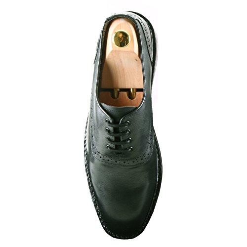 Damen Frost Handmade Adams Mens Leather Shoes, Dress Casual Oxfords Leather Footwear Black