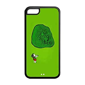Giving Tree Design Solid Rubber Customized Cover Case for iPhone 5c 5c-linda126