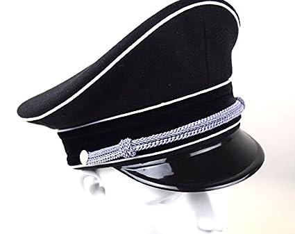 2f2902c9e Replica WWII German Elite Officer Wool Hat Officer Cap Black