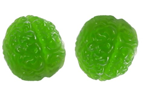 2-Pack Halloween Plastic Brain Shaped Gelatin Mold - 8 3/4 Inches Long X 7 Inches Wide X 3 1/2 Inches Deep - Holds 5 Cups Each