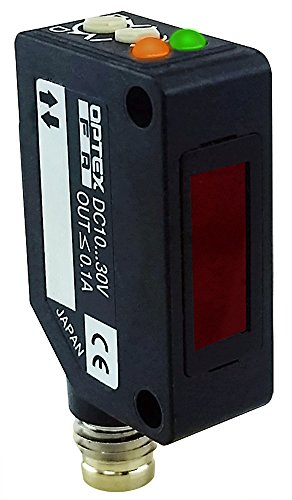 Optex FA 10 meter polar. retro-reflective laser beam photoelectric sensor PNP output M8 4 pin QD by Optex FA