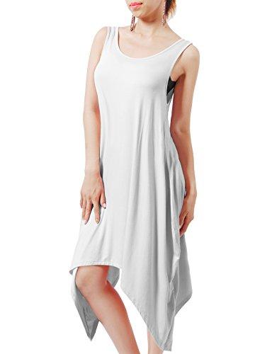 H2H Womens Loose Asymmetrical Sleeveless