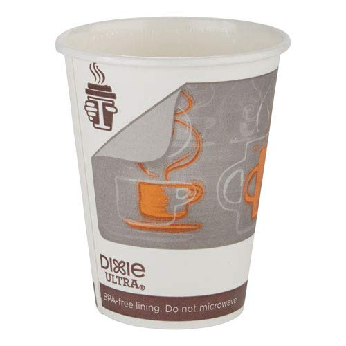 Georgia Pacific 6342AR Dixie Ultra Insulair Paper Hot Cup, 12 Oz, Coffee, 50 Cups/sleeve, 20 Sleeves/ct