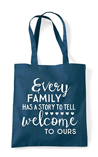 Ours Welcome Bag Every Petrol Story Tote Statement Tell To Shopper Has Family A TxwwnaqUB0