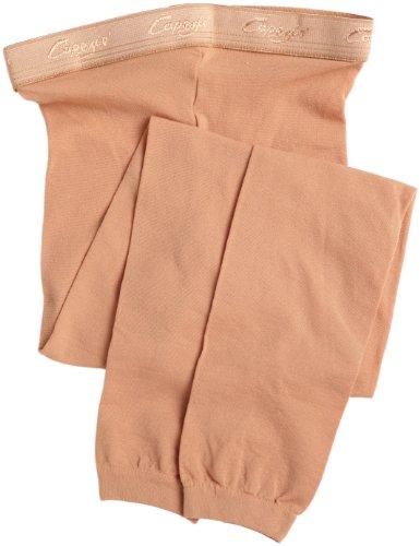 Capezio Big Girls' Hold & Stretch Footless Tight Socks, Suntan, Medium ()