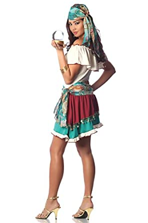 Delicious Gypsy Rose Costume, Turquoise, Medium