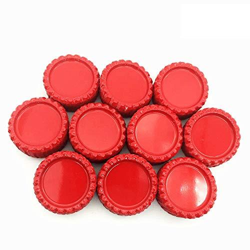 (IGOGO 100 Pcs Red Flat Bottle Caps Hair Bows DIY Pendants Craft)