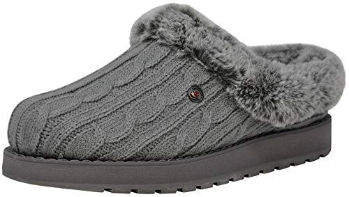 Skechers BOBS from Women's Keepsakes Ice Angel Slipper, Grey, 8.5 W US