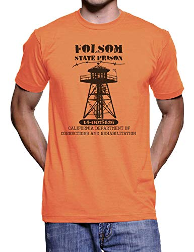 Folsom State Prison T Shirt - Mens T Shirts - Mens Shirt - Prison Jail Halloween Costume - Funny Novelty Gift T Shirt Womens Graphic Tees]()