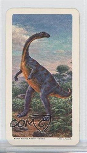 Plateosaurus (Trading Card) 1963 Brooke Bond Red Rose Dinosaurs and Other Prehistoric Animals - Tea [Base] - Canadian Black Backs #17 from Unknown