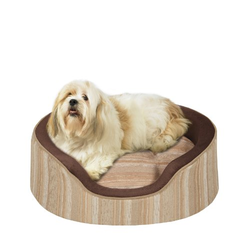 Soft Touch ShowOff Jacqaurd Oval Cuddler 27×21 inches, My Pet Supplies