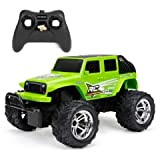New Bright Jeep Wrangler, Mud Slinger R/C ChargersUSB Green 61822