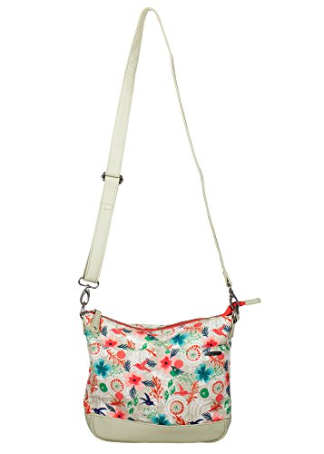 Morning Dew Hummingbird 9 x 9 x 2 Canvas Metal Zipper Crossbody Handbag