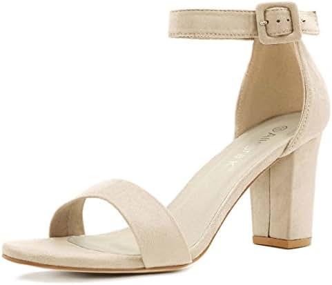 910eba7a6e6 1153 bình luận. Từ Mỹ. Allegra K Women s High Chunky Heel Buckle Ankle  Strap Sandals