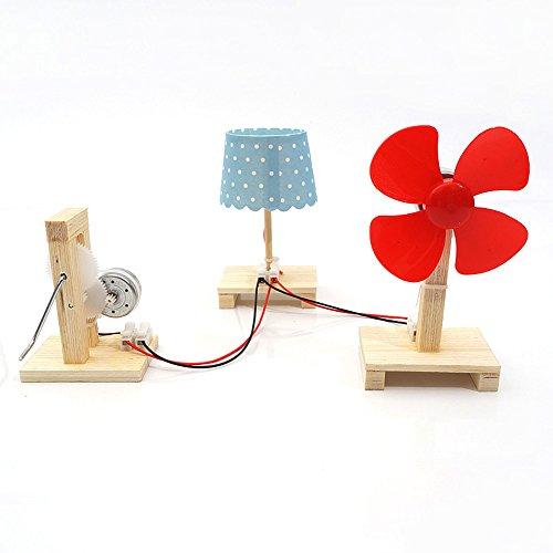 TommoT DC Crank Generator Educational Toy Model,Building a Generator,Wooden Assembly Model Kits
