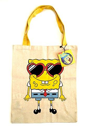 shoulder Official shopper shopping tote canvas bag SpongeBob Official SpongeBob tote shoulder canvas shopping shopper bag R0xEEH