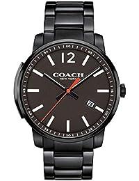 amazon com coach watches men clothing shoes jewelry coach watch bleecker men 14602003 black pvd slim