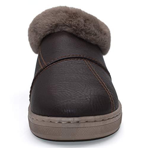 d'extérieur De Femmes Cuir Maison Jiajiale Bottines Chaussons Moelleux D'intérieur En Hiver Chaud Chaussures Noir PTnCqx1Bw